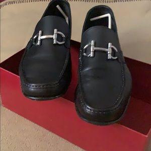 Ferragamo black loafers